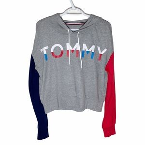 Tommy Hilfiger Tommy spell out colorblock hoodie M